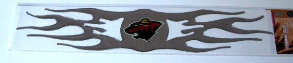 Minnesota Wild 3D Auto Car Graphic Chrome Flames Gift