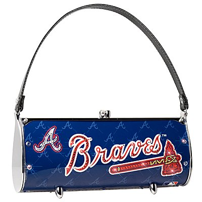 Atlanta Braves Littlearth Fender Flair Purse Bag Swarovski Crystals Gift