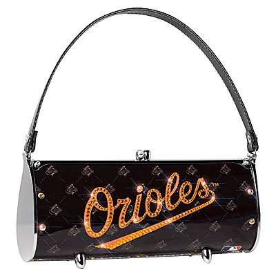 Baltimore Orioles Littlearth Fender Flair Purse Bag Swarovski Crystals Gift