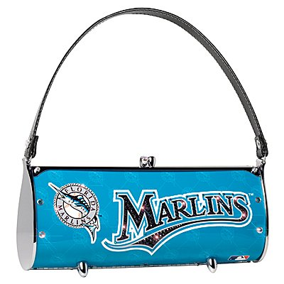 Florida Marlins Littlearth Fender Flair Purse Bag Swarovski Crystals Gift