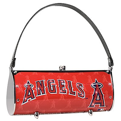 Los Angeles Angels Littlearth Fender Flair Purse Bag Swarovski Crystals Gift