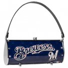 Milwaukee Brewers Littlearth Fender Flair Purse Bag Swarovski Crystals Gift