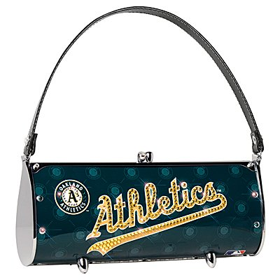 Oakland Athletics Littlearth Fender Flair Purse Bag Swarovski Crystals Gift
