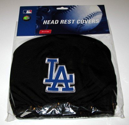 Los Angeles Dodgers Auto Car Head Rest Covers Set Gift