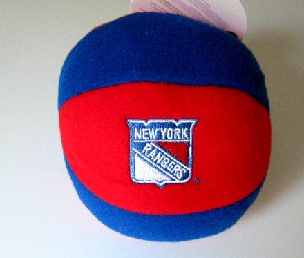 New York Rangers Plush Ball Baby Rattle Toy