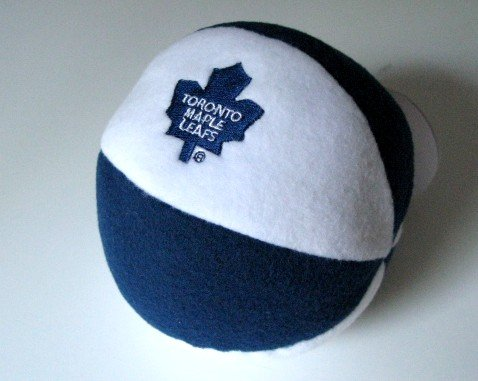 Toronto Maple Leafs Plush Ball Baby Rattle Toy Gift