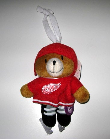 Detroit Red Wings Musical Pull Down Plush Bear Baby Toy Gift