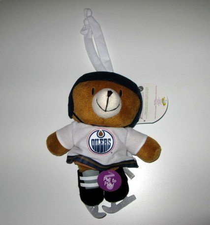 Edmonton Oilers Musical Pull Down Plush Bear Baby Toy Gift