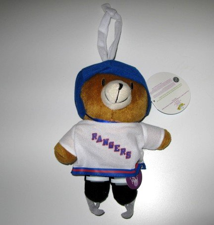 New York Rangers Musical Pull Down Plush Bear Baby Toy Gift