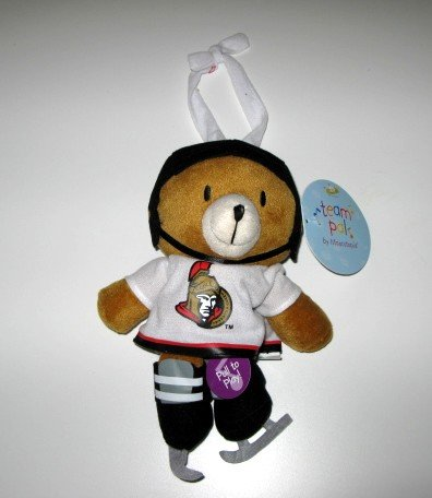 Ottawa Senators Musical Pull Down Plush Bear Baby Toy Gift