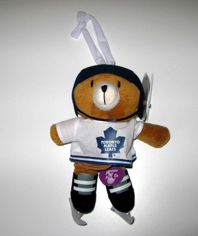 Toronto Maple Leafs Musical Pull Down Plush Bear Baby Toy Gift