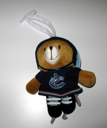 Vancouver Canucks Musical Pull Down Plush Bear Baby Toy Gift