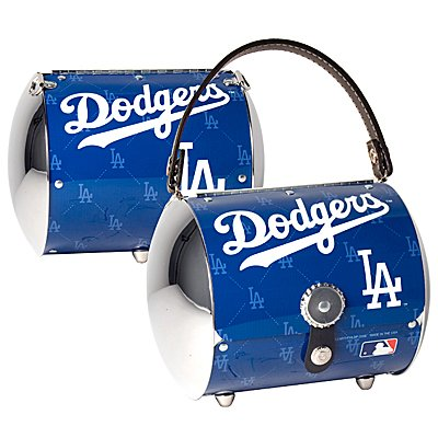 Los Angeles Dodgers Littlearth Super Cyclone License Plate Purse Bag Gift