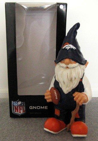 Denver Broncos Football Garden Gnome Figure Indoor/Outdoor Gift