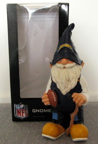 San Diego Chargers Football Garden Gnome Figure Indoor/Outdoor Gift