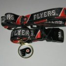Philadelphia Flyers Pet Dog Leash Set Collar ID Tag Large