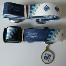 Tampa Bay Devil Rays Pet Dog Leash Set Collar ID Tag Small