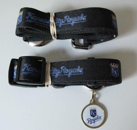Kansas City Royals Pet Dog Leash Set Collar ID Tag Medium