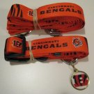 Cincinnati Bengals Pet Dog Leash Set Collar ID Tag Gift Size Medium