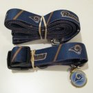 St. Louis Rams Pet Dog Leash Set Collar ID Tag Gift Size Large