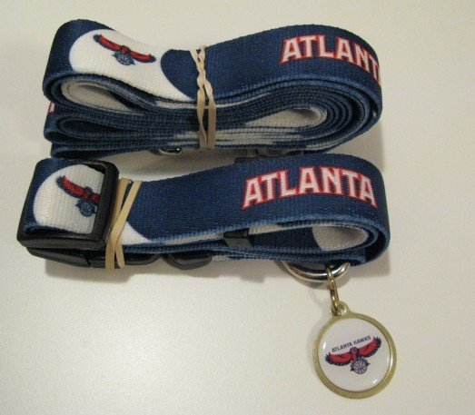 Atlanta Hawks Pet Dog Leash Set Collar ID Tag Gift Size Small