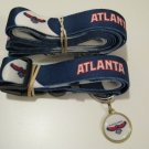 Atlanta Hawks Pet Dog Leash Set Collar ID Tag Gift Size Medium