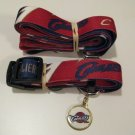 Cleveland Cavaliers Pet Dog Leash Set Collar ID Tag Gift Size Medium