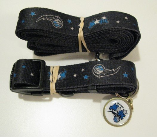 Orlando Magic Pet Dog Leash Set Collar ID Tag Gift Size Medium