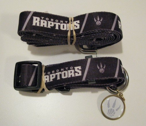 Toronto Raptors Pet Dog Leash Set Collar ID Tag Gift Size Medium