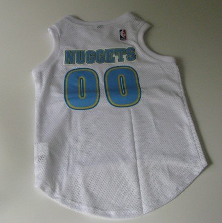 Denver Nuggets Pet Dog Basketball Jersey Gift Size Large