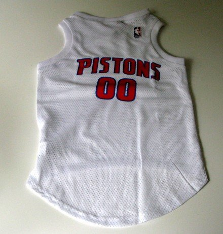 Detroit Pistons Pet Dog Basketball Jersey Gift Size Large