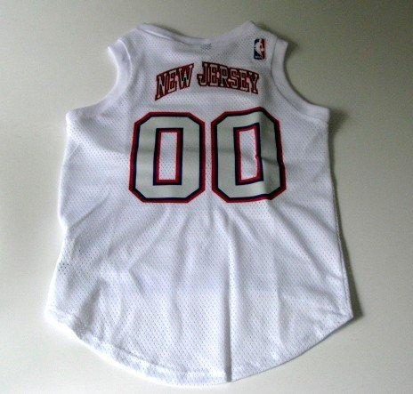 New Jersey Nets Pet Dog Basketball Jersey Gift Size Large