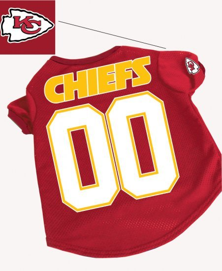 Kansas City Chiefs Pet Dog Football Jersey Gift Large