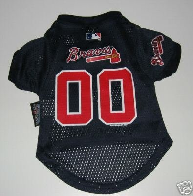Atlanta Braves Pet Dog Baseball Jersey Gift XL
