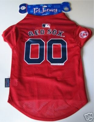 Boston Red Sox Pet Dog Baseball Jersey Gift Large