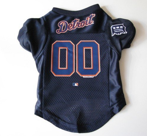 Detroit Tigers Pet Dog Baseball Jersey Shirt Premium Gift Large