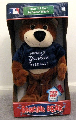 New York Yankees Musical Dancing Bear Plays All-Star Cute Gift