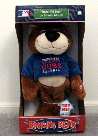 Chicago Cubs Musical Dancing Bear Plays All-Star Cute Gift