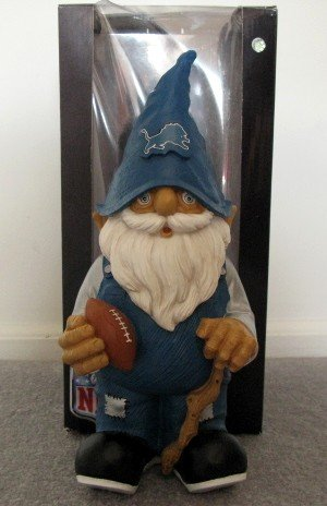 Detroit Lions Football Garden Gnome Figure Indoor/Outdoor Gift