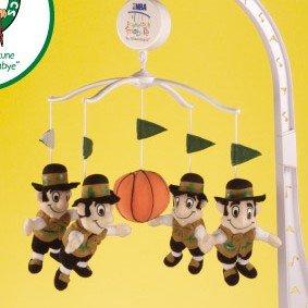 Boston Celtics Musical Baby Crib Mobile Basketball Gift