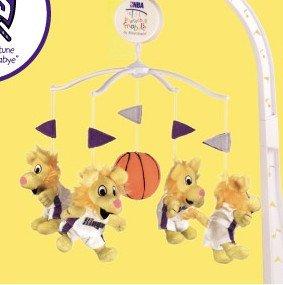 Sacramento Kings Musical Baby Crib Mobile Basketball Gift