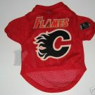 Calgary Flames Pet Dog Hockey Jersey Gift Size Large