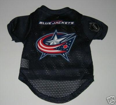 Columbus Blue Jackets Pet Dog Hockey Jersey Gift Size Small