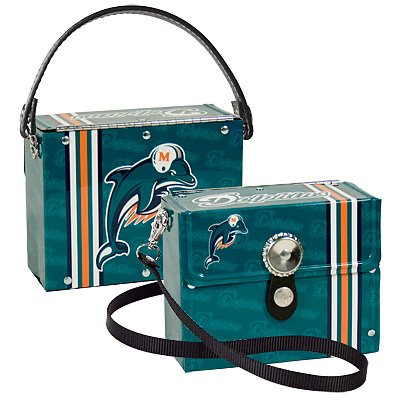 Miami Dolphins Littlearth Fanatic License Plate Purse Bag Gift