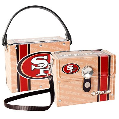 San Francisco 49ers Littlearth Fanatic License Plate Purse Bag