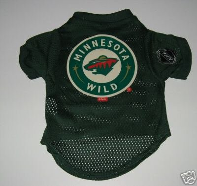 Minnesota Wild Pet Dog Hockey Jersey Gift Size Medium