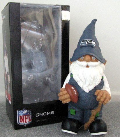 Seattle Seahawks Football Garden Gnome Figure Indoor/Outdoor Gift