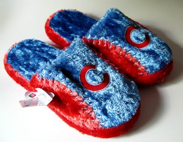 Chicago Cubs Ball Slide Slippers Gift Large