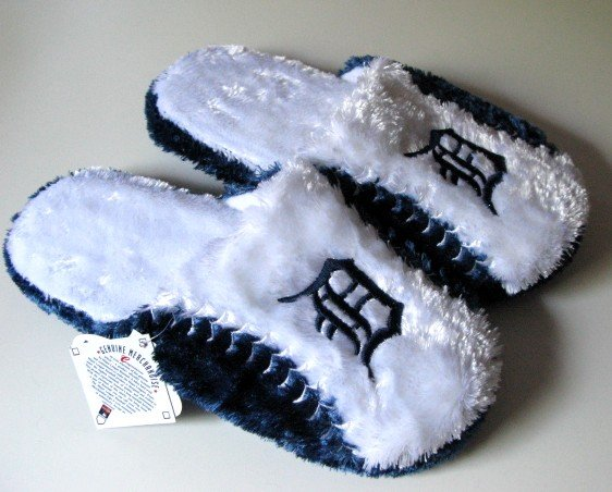 Detroit Tigers Ball Slide Slippers Gift Large