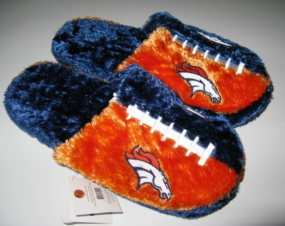 Denver Broncos Football Himo Slide Slippers Gift Medium